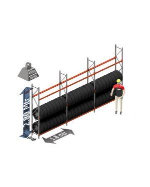 Voordeel set: 2800 hoog 500 diep en 5.4 mtr lang 3 niveau's (1.8 mtr./sectie)