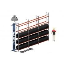 Voordeel set banden: 4000 hoog 500 diep en 5.64 mtr lang 5 niveau's (1.8 mtr./sectie)