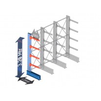 draagarmstelling stelling enkelzijdig set zelf samenstellen 3.2 mtr hoog