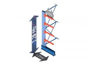 Draagarmstelling medium duty enkelzijdig aanbouw sectie 120 Cm. X 320 Cm. x 80 Cm.