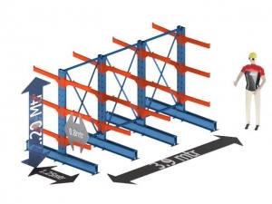 Draagarmstelling dubbelzijdig medium duty 3.9 mtr x  2.2 mtr x 2.5 mtr.  incl. 16 Armen van 1.25 mtr.
