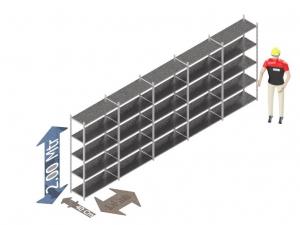Legbordstelling 200 x 500 x 40 Cm (hxbxd) -  5 - niveau's verzinkt voordeelset