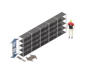Legbordstelling 200 x 500 x 50 Cm (hxbxd) -  5 - niveau's verzinkt voordeelset