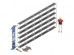 Legbordstelling 300 x 500 x 40 Cm (hxbxd) -  6 - niveau's verzinkt voordeelset