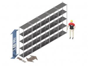 Legbordstelling 300 x 500 x 50 Cm (hxbxd) -  5 - niveau's verzinkt voordeelset