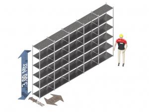Legbordstelling Voordeelset 300 x 500 x 50 Cm (hxbxd) - 6 - niveau's verzinkt