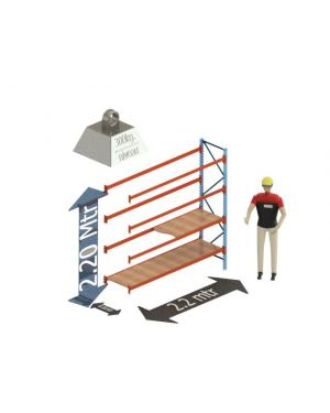 Grootvak Stelling aanbouw sectie  2,2 x 0,6 x 2,2 mtr. 4 niveau's 300kg. (per liggerpaar)