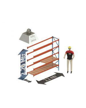 Grootvak Stelling aanbouw sectie  2,2 x 0,6 x 2,2 mtr. 5 niveau's 300kg. (per liggerpaar)