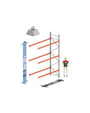 Aanbouw Sectie: Hoogte: 4.05 mtr. Diepte: 1.1 mtr. Breedte sectie : 2.7 mtr. Aantal niveau's: 3 Dragers 100x50 L=2.7mtr. Draagvermogen: 2.000Kg. (per liggerpaar)