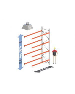 Aanbouw Sectie: Hoogte: 4.05 mtr. Diepte: 1.1 mtr. Breedte sectie : 2.7 mtr. Aantal niveau's: 4 Dragers 100x50 L=2.7mtr. Draagvermogen: 2.000Kg. (per liggerpaar)