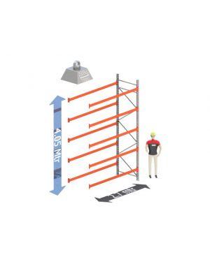 Aanbouw Sectie: Hoogte: 4.05 mtr. Diepte: 1.1 mtr. Breedte sectie : 2.7 mtr. Aantal niveau's: 5 Dragers 100x50 L=2.7mtr. Draagvermogen: 2.000Kg. (per liggerpaar)