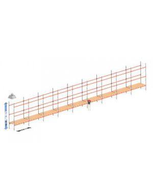 Palletstelling set: 4050 hoog 1100 diep en 25.2 mtr lang 3 niveau's (2.7 mtr./sectie)