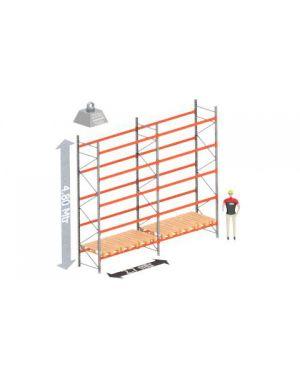 Palletstelling set:  4800 hoog 1100 diep en 5.67 mtr lang 5 niveau's (2.7 mtr./sectie)