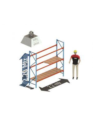 Grootvak Stelling start sectie  2,2 x 0,6 x 2,2 mtr. 3 niveau's 300kg. (per liggerpaar)