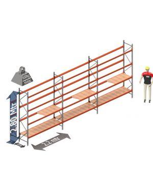Voordeel set: 2800 hoog 600 diep en 6.6 mtr lang 4 niveau's (2.2 mtr./sectie)