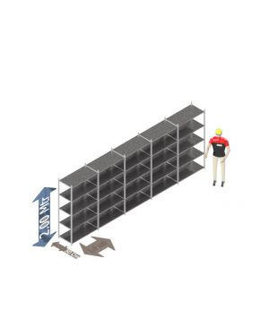 Voordeelset 200 x 500 x 50 Cm (hxbxd) - 5 - niveau's verzinkt